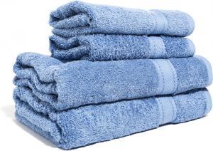 Zestaw ręczników Terry z certyfikatem Fair Trade błękit gołębi 57