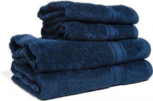 Zestaw ręczników Terry z certyfikatem Fair Trade granatowy 58