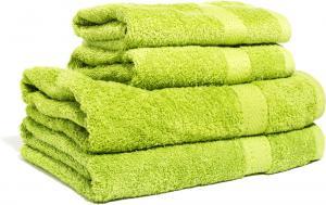 Zestaw ręczników Terry z certyfikatem Fair Trade zielone jabłuszko 63